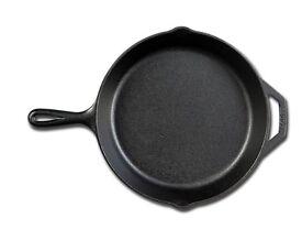 Vintage Usa Lodge Cast Iron Skillet Frying Pan 10 8sk Double Pour Helper Handle.. new