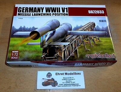 WWII German Vergeltungswaffe  V1 Missile Launching   1:72 Modelcollect UA72033