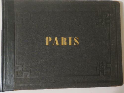 c. 1865-70 BOOK: Choix de 26 Vues et Monuments PARIS ACTUEL,Beautiful Engravings