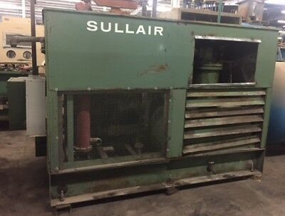 Sullair Rotary Screw Air Compressor Model 20-100l Max Press 110 Psig