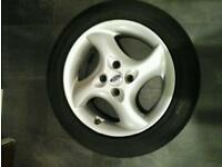 """Ford 16 """" borbet alloy wheel and 205 / 50 × 16 """" tyre"""