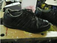 Adidas black leather golf shoes size 8