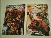 2x Marvel Avengers Assemble 2012 glossy comic