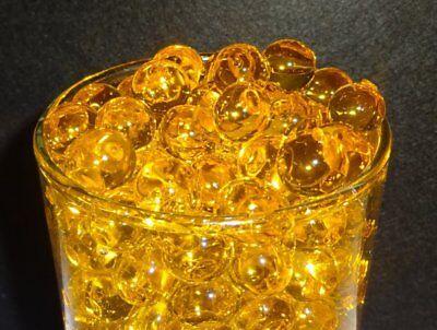 Gold Water Beads (Water Beads  ( Butterscotch Gold ) Centerpiece Vase Fillers , Bulk 1 pound)