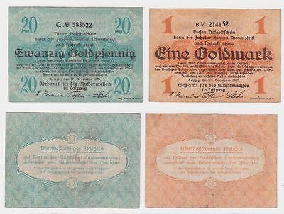 2 Banknoten Meßamt für Mustermessen Leipzig 1923 (117350)