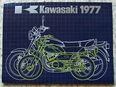 KAWASAKI MOTORCYCLES RANGE 1977 Sales Brochure #99980-031-08  Z1000 Z650 KH250++