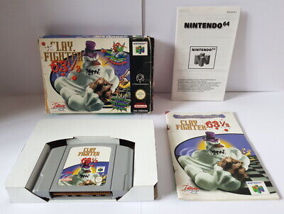 Clay Fighter 63 1/3 N64 Complete Rare