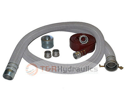 3 Flex Fcam X Mp Water Suction Hose Trash Pump Complete Kit W50 Red Dis