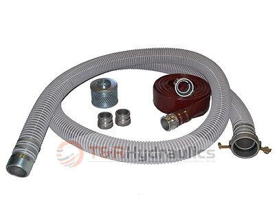 3 Flex Fcam X Mp Water Suction Hose Trash Pump Complete Kit W75 Red Dis