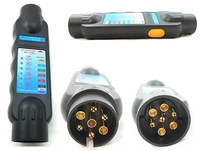 7 Pol Stecker TESTER Prüfgerät Beleuchtungstester Anhänger 12V Trailer