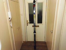 pair of skis with bindings