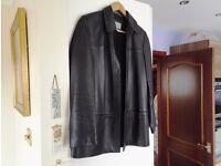 ladies m&s leather dress jacket size 12