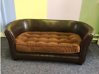 Faux Leather Luxury Pet Sofa Dog Bed | End of Line Bargain some scuffs etc | Large Size 2 left |