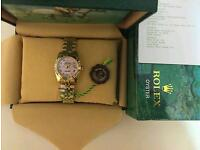 New Swiss Ladies Rolex Oyster Datejust Perpetual Automatic Watch, pink dial