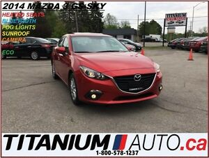2014 Mazda MAZDA3 GS+GPS+Sunroof+Camera+Heated Seats+BlueTooth+S