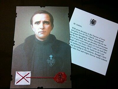 Bl. Isidore Passionist Holy Card w/ Relic & Prayer