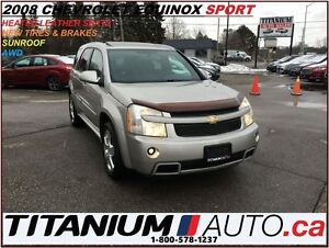 2008 Chevrolet Equinox Sport+AWD+Sunroof+Heated Leather Seats+XM