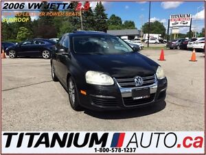 2006 Volkswagen Jetta 2.5L+Sunroof+Heated Leather Power Seats+AS