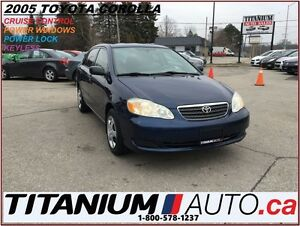 2005 Toyota Corolla LE+Keyless+Cruise Control+Power Windoes & Lo