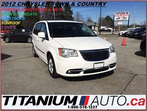 2012 Chrysler Town & Country GPS+Sunroof+Camera+3 DVDs+Stow N Go