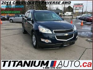 2011 Chevrolet Traverse AWD+2x DVD's+8 Passengers+Remote Stater+