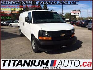 """2017 Chevrolet Express 2500 2500 155""""+4.8L V8+Power Windows & Do"""