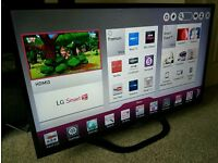 """LG 42"""" Slim LED FULL HD SMART TV WITH BUILT IN WiFi FREEVIEW HD, 4X HDMI NEW CONDITION FULLY WORKING"""