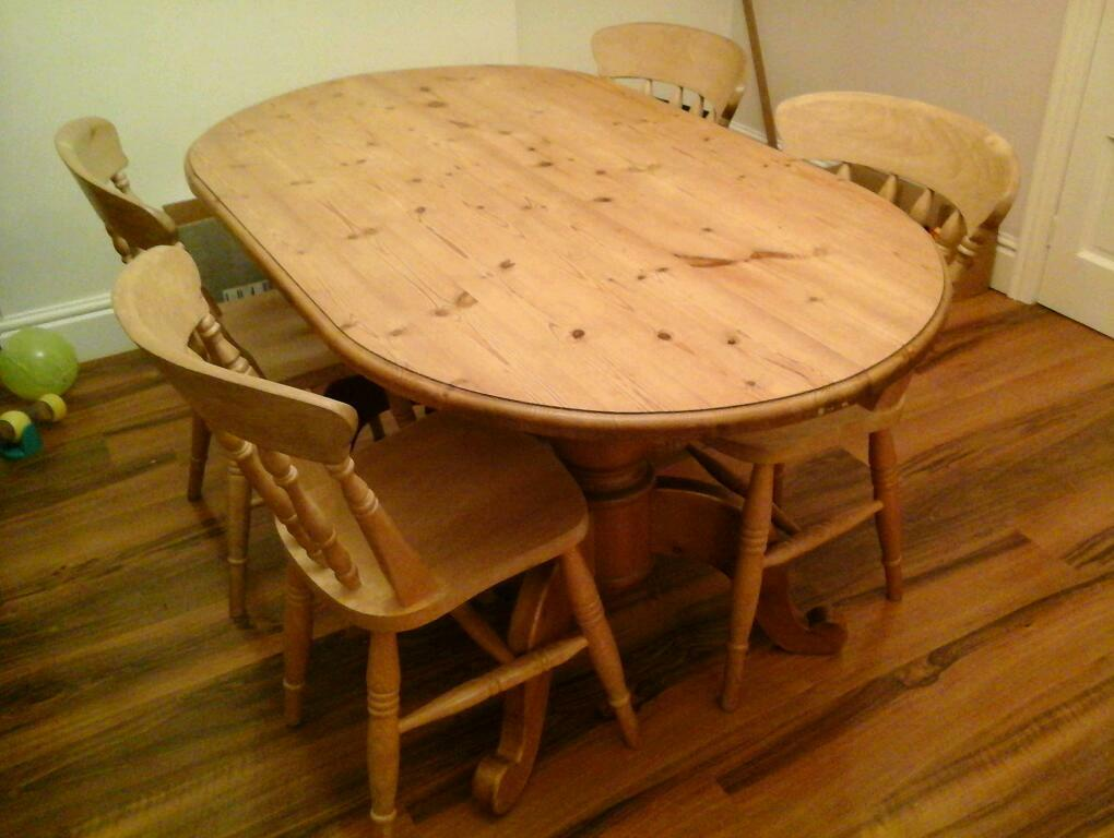 pine table and four chairs in hull east yorkshire gumtree