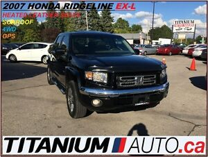 2007 Honda Ridgeline RTL+GPS+4WD+Heated Leather Seats+Sunroof+