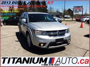 2013 Dodge Journey R/T AWD+Heated Leather+Remote Start+Back Up S