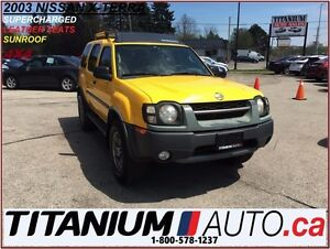 2003 Nissan Xterra Super Charged+4X4+Leather Seats+Sunroof+AS-IS
