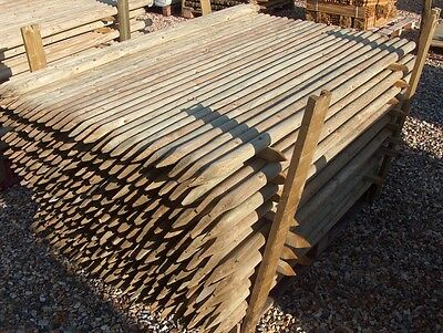 20 X 1.8m (6ft)  40mm dia. round wooden fence posts stakes - pressure treated