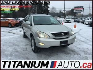 2008 Lexus RX 350 AWD+Xenon+Power Gate+Leather Heated Memory Sea