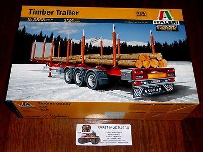 Für LKW Truck  Timber Trailer Rungenauflieger    in 1:24 von Italeri 3868
