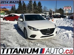 2014 Mazda MAZDA3 GS+GPS+Camera+BlueTooth+Heated Seats+Remote St