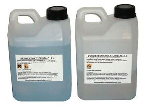 kit de 3 litres de r sine epoxy cristal pour inclusion ou coul e ebay. Black Bedroom Furniture Sets. Home Design Ideas