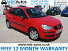2006 (55) VW Polo 1.2 E, Only 76k miles, FULL SERVICE HISTORY, LONG TAX & MOT, CD CL Chorley