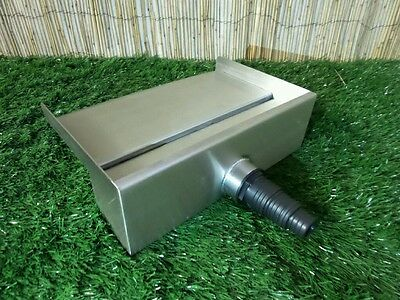300mm Stainless Steel Waterfall WATER BLADE Cascade 130mm Spout Pond  BACK INLET