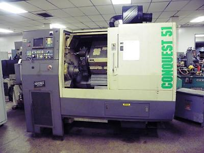 Hardinge Conquest T51 Cnc Lathe Turning Center Clearance Priced