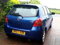 2007 Toyota Yaris 1.3 VVT-i SR VERY LOW MILEAGE Keyless Entry/Start Rear Park Sensors FSH