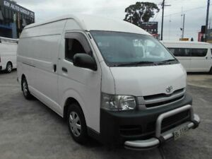 2010 Toyota HiAce KDH221R MY11 Upgrade SLWB White 4 Speed Automatic Van Five Dock Canada Bay Area Preview