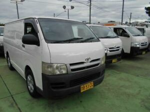 2005 Toyota HiAce KDH200R LWB White 4 Speed Automatic Van Five Dock Canada Bay Area Preview