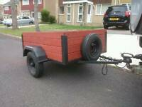 4' x 3' Trailer, New Electrics, Spare Wheel