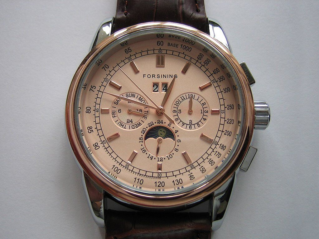 3e2b6c4405e3 Men s Automatic Moon Phase Watch Forsining. Hull