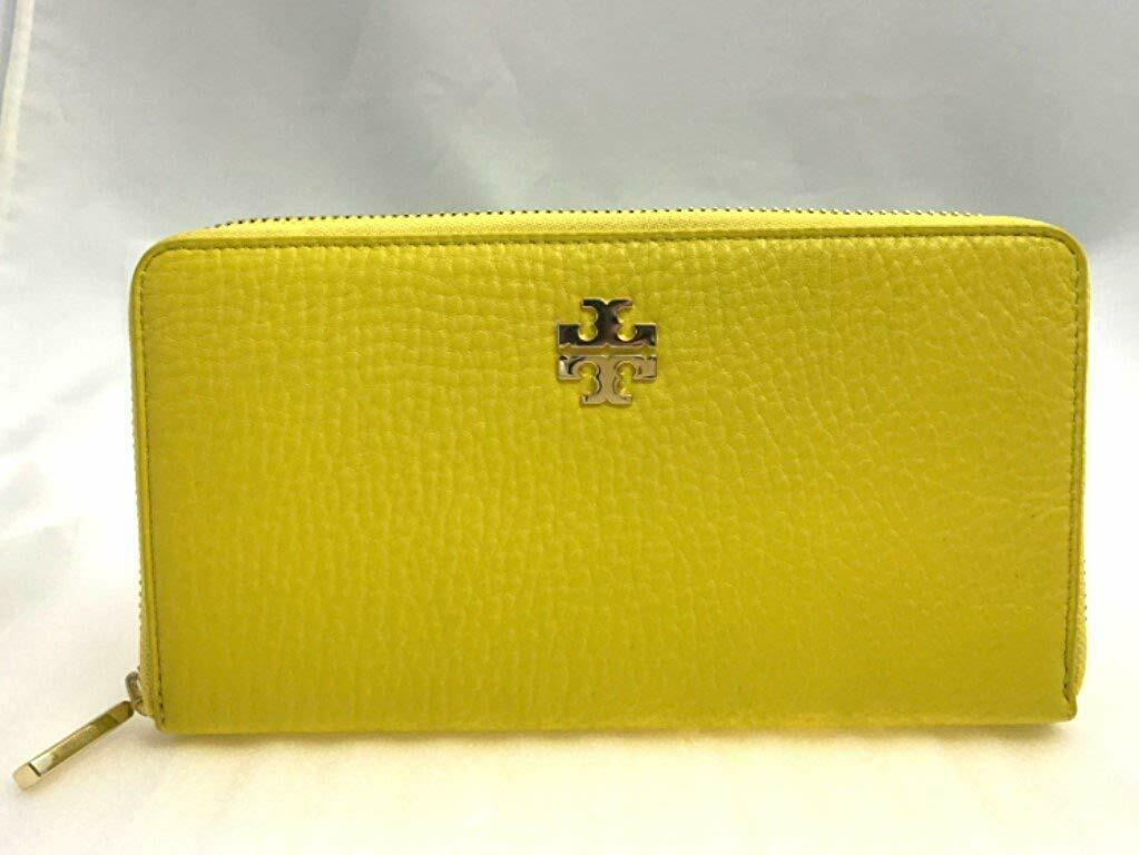 NWT Tory Burch Robinson Stitched Zip Continental Wallet Sunshine