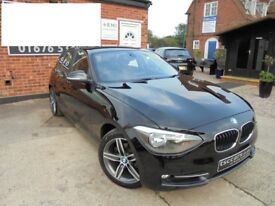 2012 (12) - BMW 1 Series 118d Sport 5dr Start/Stop Full Leather Bluetooth Full BMW Service History