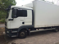 MAN truck tgl -8-180 ,7.5 ton with sleeper cab and sunroof