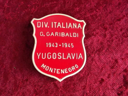 Badge Italian Partisan Div. Garibaldi Yugoslavian Front 43-45 WW2 new with case