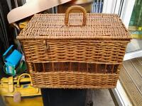 Vintage unusual wicker basket