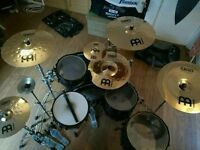 Mapex Meridian Black Drum kit with all hardware and cymbals